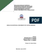 Trabajo Colaborativo sobre el Modelo de Gestión del Conocimiento propuesto por Andersen (1999)