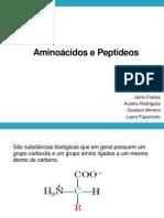 Slide de Aminoácidos de Peptídeos - Química Orgânica