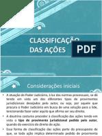 processo civil - classificação das ações