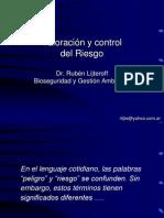 Clase 15 Valoracion y Control Del Riesgo