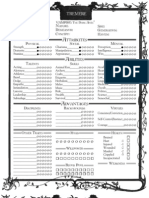WOD - Vampire - The Dark Ages - Character Sheet - Tremere