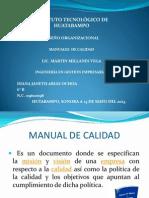 MANUAL DE LA CALIDAD VI UNIDAD DISEÑO ORGANIZACIONAL