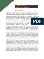 APROXIMACIÓN A LA PRIMERA CARTA DE PEDRO