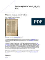 Canons of Page Construction