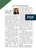 A filosofia na formação do pedagogo, Por Geruza Farias, Barro Alto-BA