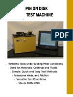 Pin on Disc Wear Testing