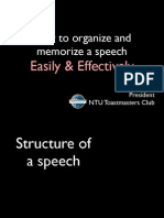 Organize and Memorize a Speech