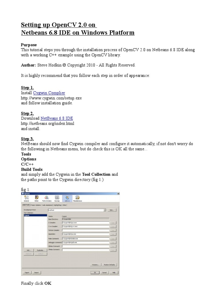 openCV2 0_Netbeans_6 8 | Net Beans | Library (Computing)