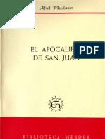 WIKENHAUSER a. - El Apocalipsis de San Juan - Herder 1969