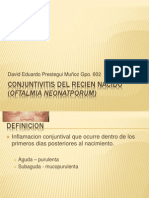 Conjuntivitis Del Recien Nacido (Oftalmia Neonatporum)