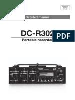 Fostex DC-R302 Manual