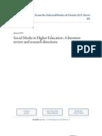SocialMdedia Higher Educa