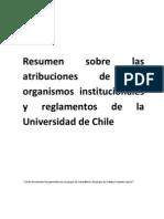 Resumen de Las Atribuciones de Los Organismos Institucionales y Reglamentos de La Universidad de Chile (1) (1) (1)