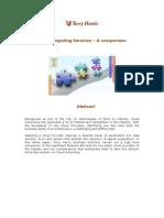 Comparison of Cloud Computing Services