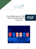 Loss Balacing in a Three-level ANPC
