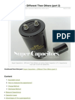 Super Capacitors Different Then Others Part 2