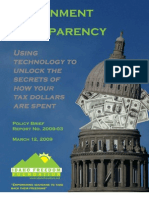Transparency Policy Brief 2009-03