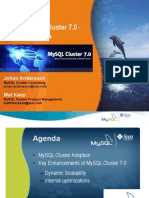 MySQL Cluster 7.0 - New Features