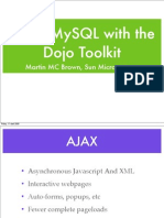 Using MySQL with the Dojo Toolkit