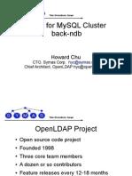 LDAP for MySQL Cluster - back-ndb