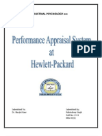 performance appraisal at hewlett packard
