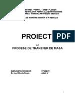 Proiectul Tehnologic Al Unei Instalatii de Eliminare a Hidrogenului Sulfurat Prin Absorbtie in Solutie Apoasa de Mea