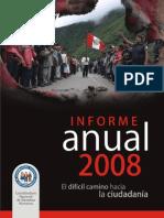 Informe anual 2008 de la Coordinadora Nacional de Derechos Humanos
