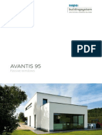ProductBrochure Avantis 95 aluminium Passive Windows by Sapa Building System