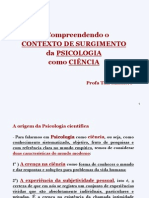 Contexto de Surgimento Da Psicologia Como Ciencia_Profa Tais Massiere