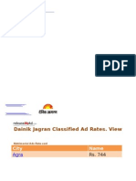 Dainik Jagran Rate Card 2013 - ReleaseMyAd