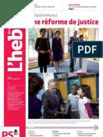 L'hebdo des socialistes n°700 - Une réforme de justice