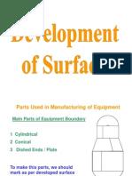 Devlopment of Surfaces