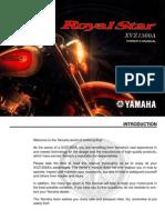 Yamaha XVZ`1300A Manual