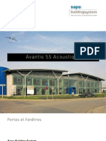 Avantis 55 solution acoustique - Sapa Building System