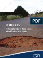 Pothole CSIR Tech Guide