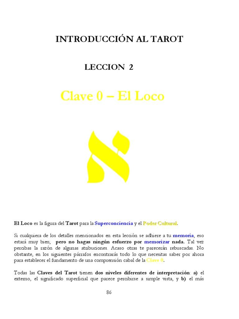 Tarot 1) Leccion 02