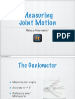 3.2 FHS - Measuring Joint Motion (Goniometer)