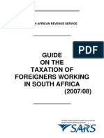 0 Tax Guide for Foreigners Working in South Africa 2007-08
