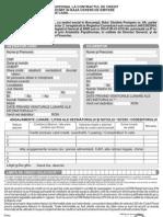 Formular Modificare Limita Creditare
