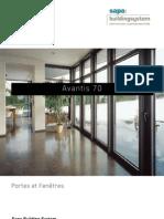 Avantis 70 portes et fenêtres en aluminium - Sapa Building System
