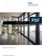 Avantis 70 aluminium ramen en deuren - Sapa Building System