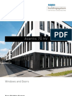Avantis 70 HV - aluminium windows with hidden vent - Sapa Building System