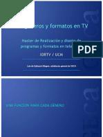 Los Generos y Formatos en Tv