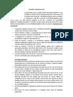 Atividade Legislativa Da AR[1]