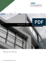 Avantis 75 aluminium ramen en deuren - Sapa Building System