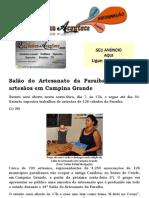 Salão do Artesanato da Paraíba reúne 700 artesãos em Campina Grande