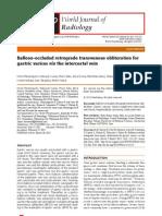 Balloon-Occluded Retrograde Transvenous Obliteration for Gastric Varices via the Intercostal Vein