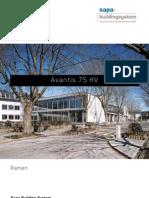 Avantis 75 HV - aluminium ramen met verborgen vleugel - Sapa Building System