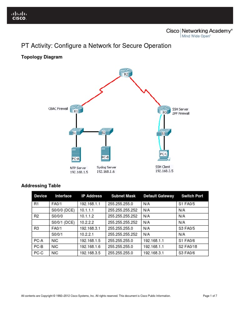 CCNA Security Packet Tracer Lab Manual | Router (Computing