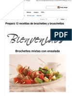 Prepará 12 recetitas de brochettes y bruschettas - Taringa!